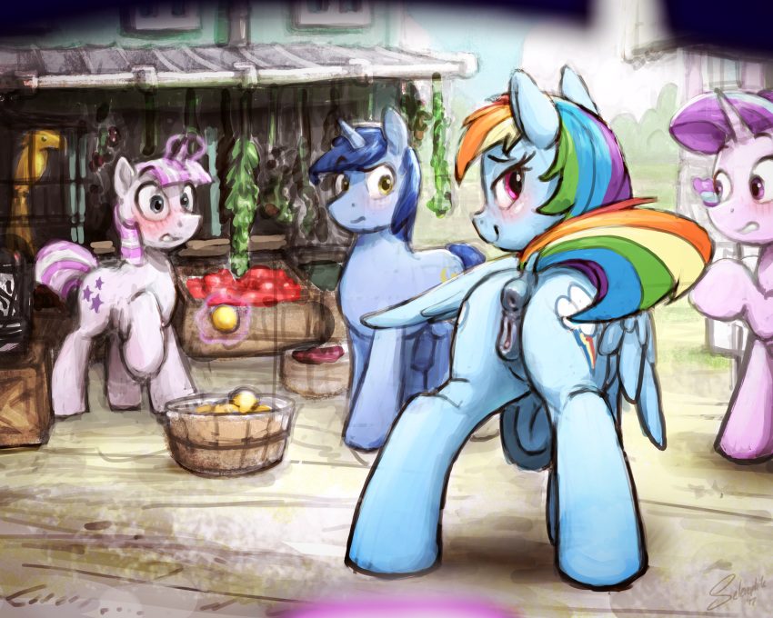 dash and rainbow shimmer sunset Link and midna porn comic